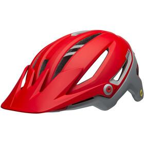 Bell Sixer MIPS Cykelhjelm grå/rød